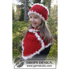 Santa's Little Helper by DROPS Design - Pannband och fuskpolo Stick-op