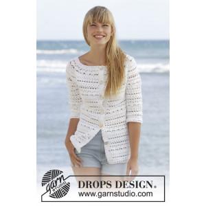 Seashore Bliss Cardigan by DROPS Design - Jacka Virk-opskrift strl. S