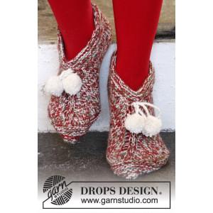 Sockin' Around by DROPS Design - Jultofflor Stick-opskrift str. 35/37