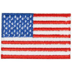 Strykmärke Flagga USA 4x7 cm - 1 st.