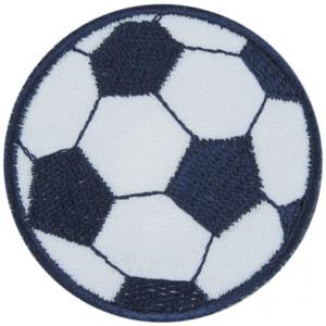 Strykmärke Fotboll Blå 5 cm - 1 st.