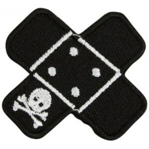 Strykmärke Pirat Plåster Svart 4