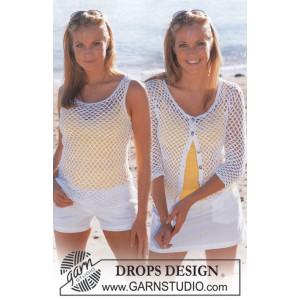 Summer Breeze Set by DROPS Design - Topp och Cardigan Virk-opskrift st