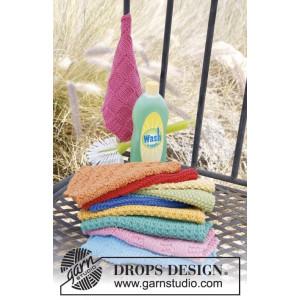 Summer Jolly by DROPS Design - Disktrasor Stick-mönster 21x21 cm