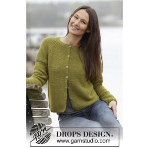 Sweet Olivia Cardigan by DROPS Design - Jacka Stick-opskrift strl. S -
