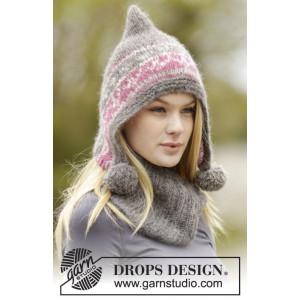 Sweet Winter Hat by DROPS Design - Mössa och hals Stick-opskrift str.