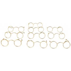 Tomteglasögon / Dockglasögon 6 cm Metall - 10 st.