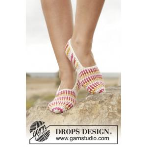 Tropical Steps by DROPS Design - Tofflor Virk-opskrift strl. 35/37 - 4