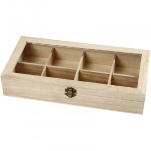 Tryckerilåda / Låda med glaslock 32x16x6 cm
