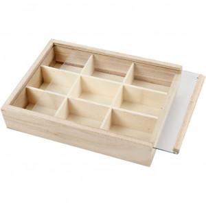 Tryckerilåda / Låda till knappar 17x13x3