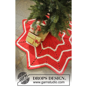 Under the Christmas Tree by DROPS Design -  Julgransmatta Virk-mönster