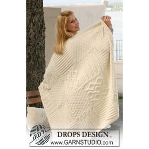 Warm Hug by DROPS Design - Filt Stick-opskrift 126x96 cm