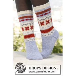 Winter Breeze by DROPS Design - Sockor Stick-opskrift str. 35/37 - 44/