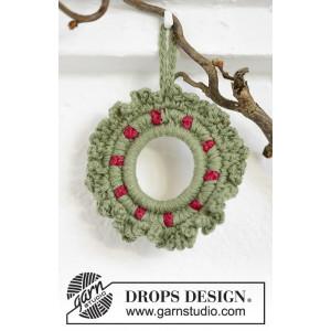Winterberry by DROPS Design - Julkrans Virk-mönster 8