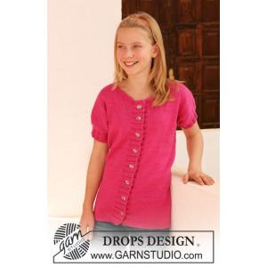 Young Linda by DROPS Design - Jacka Stick-opskrift str. 7/8 år - 13/14